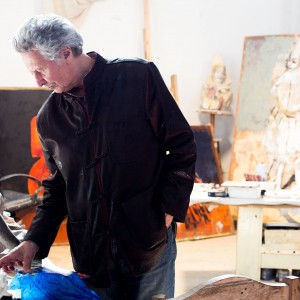 Koko nel suo studio (foto Manuela Giusto)
