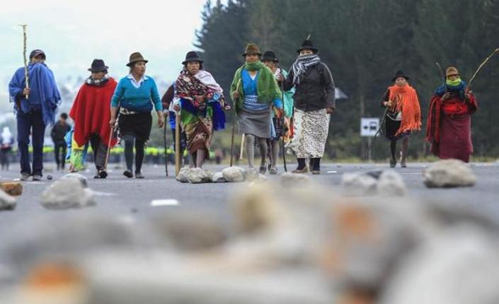 agosto 2015 indigeni Ecuador  protestano contro governo Correa