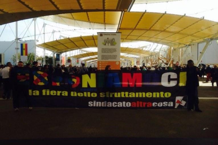 Cgil santifica Expo. Polizia ferma dirigenti dissidenti (video)