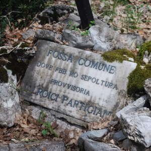 Monte Tancia, lapide ai caduti