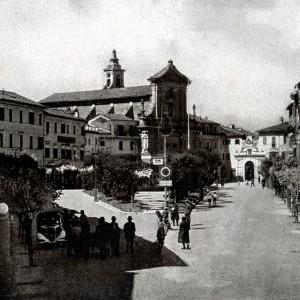 Poggio Mirteto, la piazza principale nel 1940