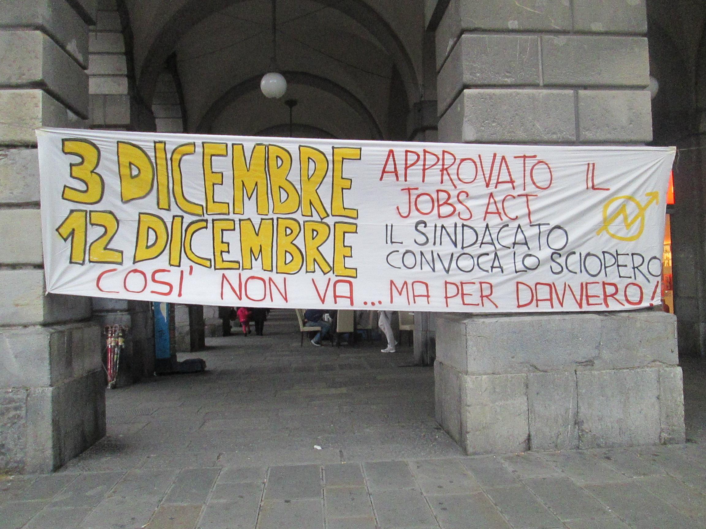 genova, lo sciopero generale del 2014 quando il jobs act ormai era passato
