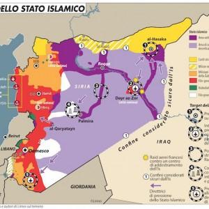 Le priorità dell'Isis (mappa Limes)