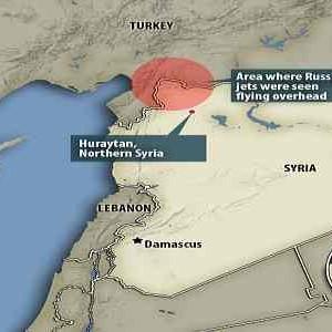 L'area dove è stato abbattuto il Su-24 russo, la stessa del drone del 10 ottobre