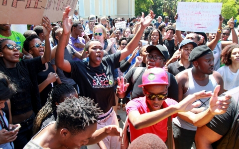 South Afrivan students protest