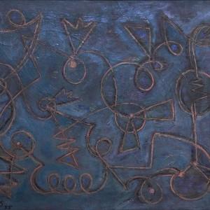 Composizione turchese, 1955