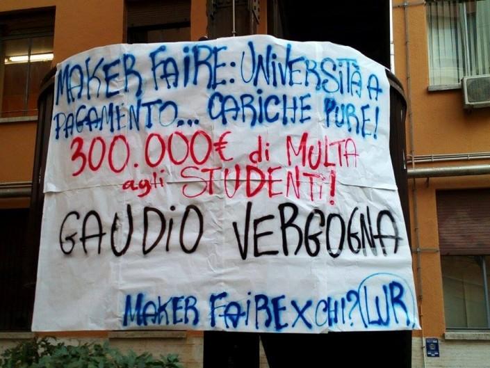 La Sapienza: diecimila euro di multa se contesti la kermesse del rettore