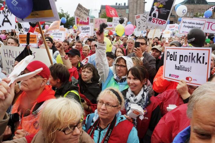 Manifestazione a Helsinki