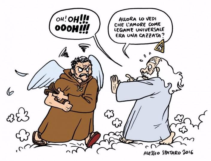 Giordano Bruno visto da Alessio Spataro. Una vignetta realizzata per LaiCittà