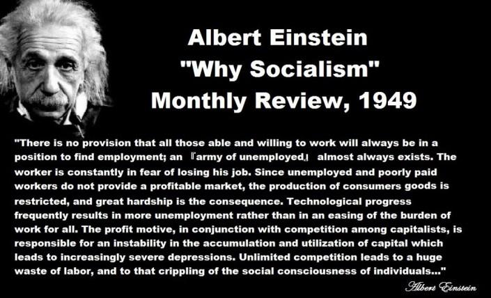 Einstein: «Il capitalismo è la vera fonte del male»