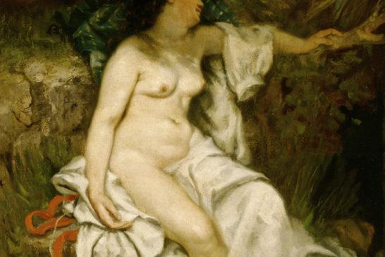 02 - Gustave Courbet - Bagnante addormentata vicino al ruscello