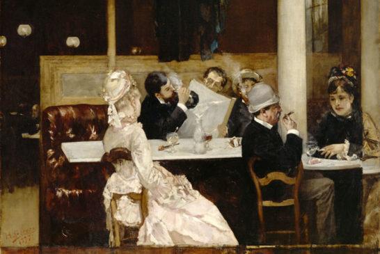 08 - Henri Gervex - Scena di caffé a Parigi