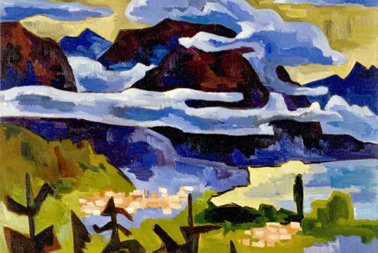 42 - Karl Schmidt- Rottluff - Nuvole di pioggia sul Lago di Garda