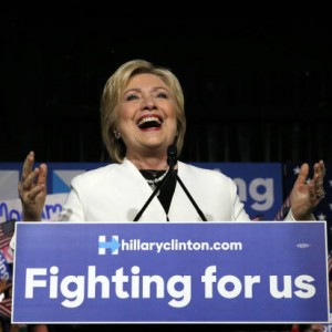 Democratic U.S. presidential candidate Hillary Clinton speaks to supporters at her Super Tuesday primary night party in Miami