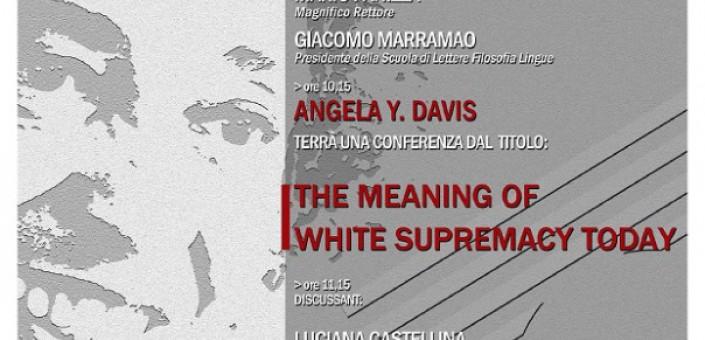 Per la prima volta a Roma, l'attivista afroamericana fa il punto sulle lotte per i diritti civili nel mondo