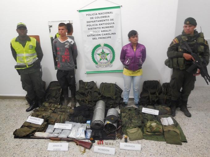 l'arresto di membri di Autodefensas Gaitanistas, paramilitari di destra legati ai narcos