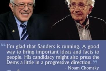 Chomsky: Sanders ha un sostegno di massa