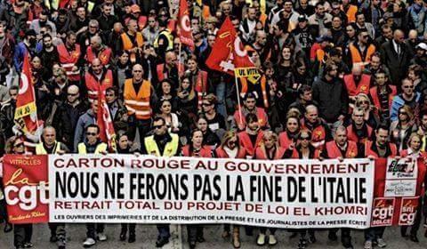Notti in piedi, giorni in sciopero! La Francia e noi