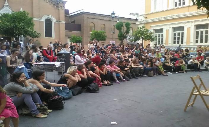 Assemblea pubblica della rete IoDecido a Roma, piazza dell'Immacolata (San Lorenzo)