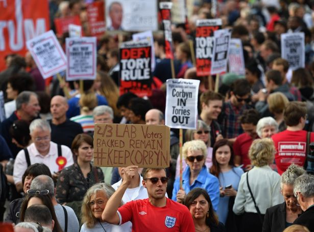 Momentum-Members-Rally-In-Support-Of-Jeremy-Corbyn