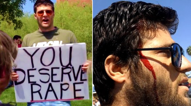 "Phoenix, ""Vi meritate di essere stuprate"": botte al predicatore sessista (video)"