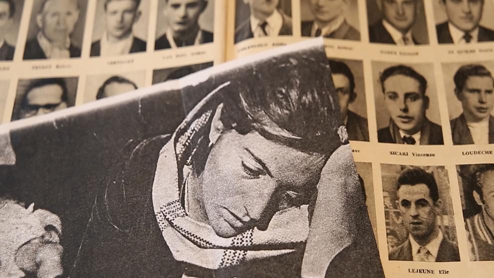 Diva D'Alimonte nel giorno dei funerali del marito Orlando Canzano. Aveva 22 anni ed era incinta di tre mesi (da La stampa)