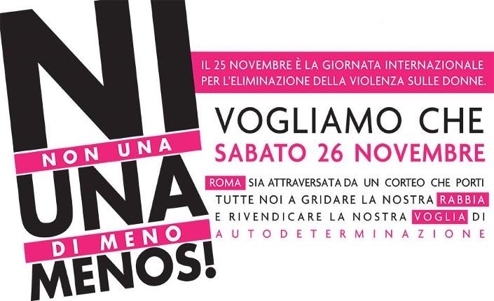Violenza maschile: donne verso il 26 novembre