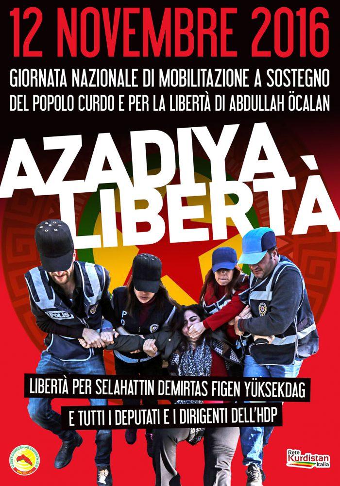 12 Novembre, No Erdogan Day: tutte le piazze per il popolo curdo