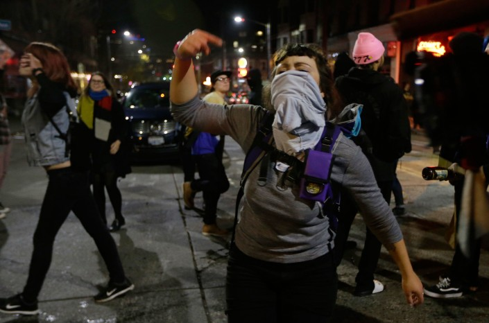 capitol hill, proteste dopo la vittoria di Trump