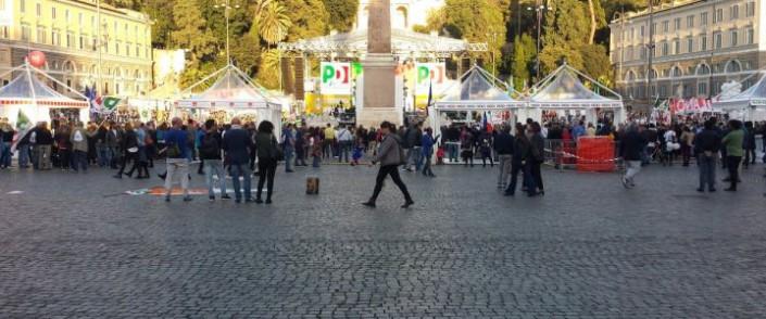 Piazza del Popolo, senza popolo per Renzi. 29 ottobre 2016