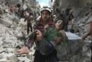 In piazza per i bambini di Aleppo