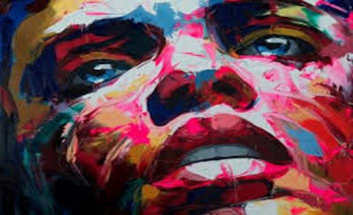 Viso di donna di Françoise Nielly, artista francese