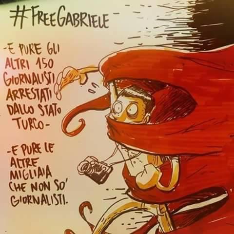 Del Grande digiuna nella prigione turca. Chi sta con Gabriele?