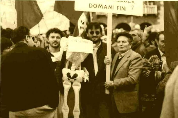 Anni '80: manifestazione operaia nel Baldo Garda