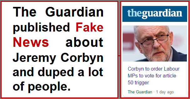 Guardian Corbyn Fake News
