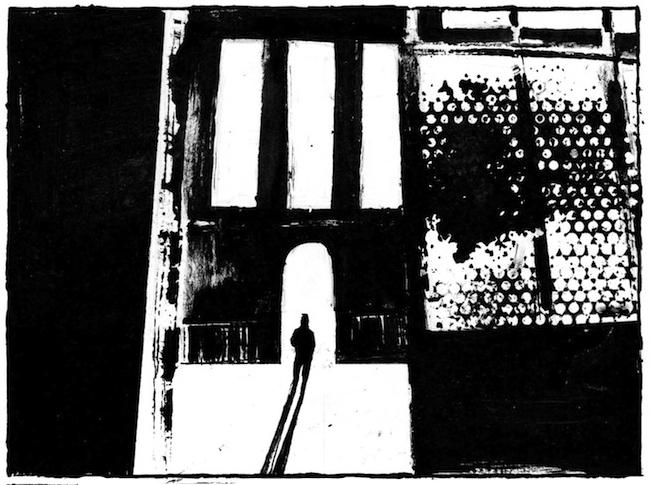 disegno di Elena Guidolin dal volume I SEGNI ADDOSSO, realizzato con Andrea Antonazzo per BECCOGIALLO