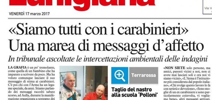 Lunigiana, quando il Pd manifestava per i carabinieri indagati