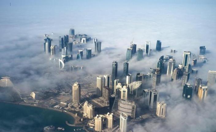 Doha, capitale del Qatar, vista dall'alto