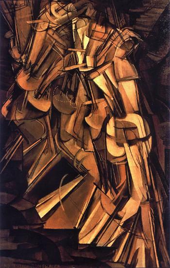 Marcel Duchamp Nudo che scende le scale (1912)