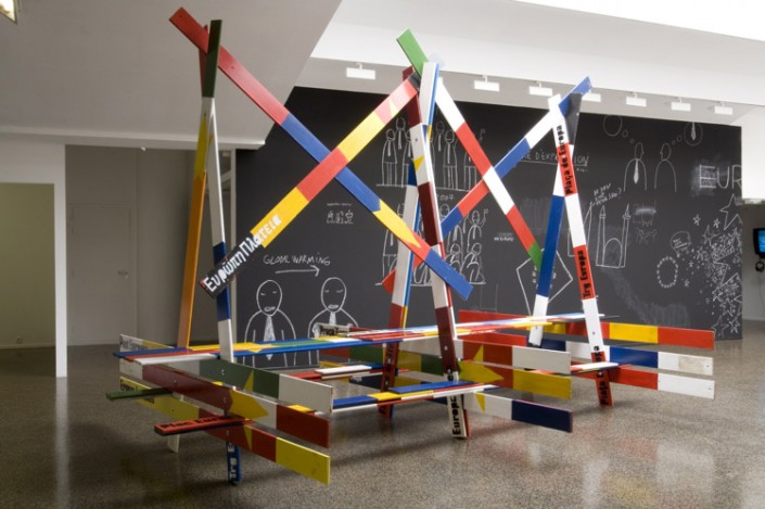 un'opera di Yves Mettler, artista ospite del convegno