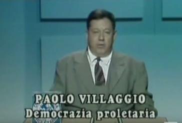 Paolo Villaggio, quella volta che Fantozzi si candidò con Dp