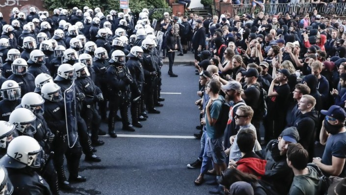 Protest against G20 Summit in Hamburg, Germany - 06 Jul 2017