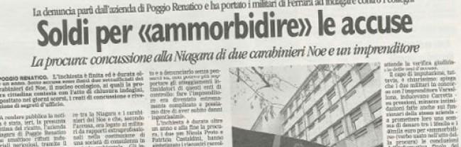 Noe-Niagara, appello bis: condannato il maresciallo