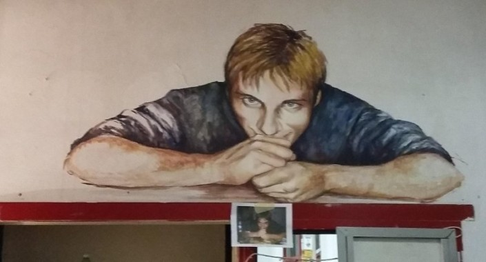 murales di sabrina di felice dedicato a renato biagetti. Acrilico su parete.