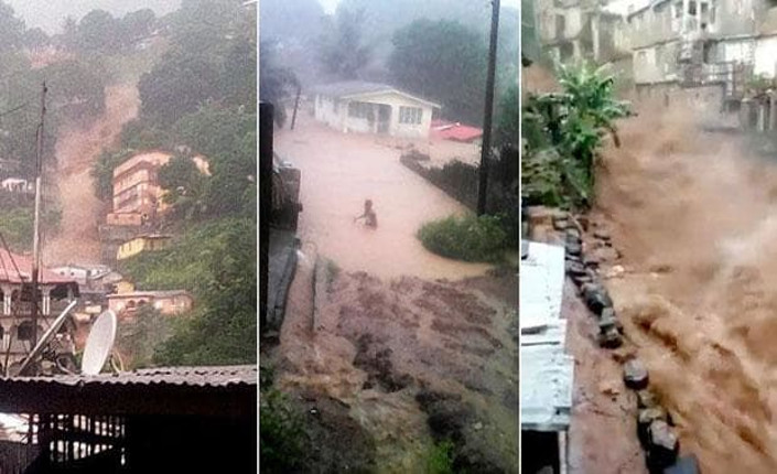 Freetown Sierra Leone inondazioni e frane 2017