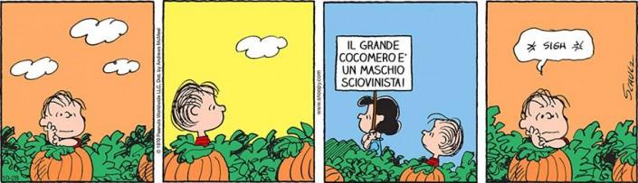 alcune vignette di Schulz sul Grande Cocomero. In Italia vengono pubblicate da Linus e il Post