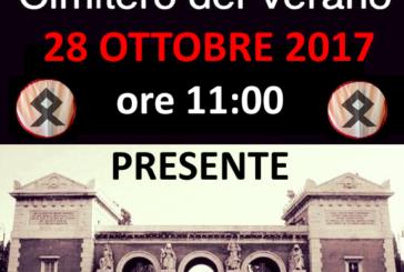28 ottobre, fascisterie al cimitero