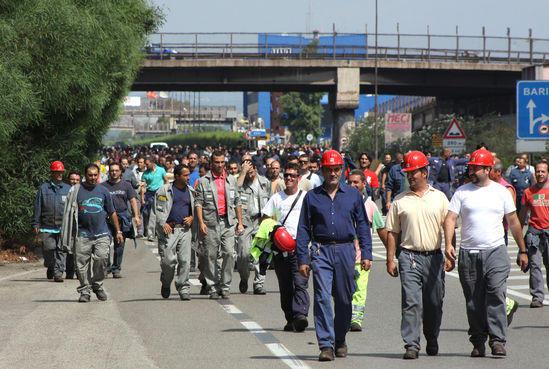 Taranto, sciopero operai dell'Ilva