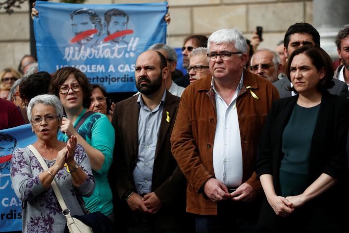 Catalogna, migliaia in piazza contro l'arresto dei leader