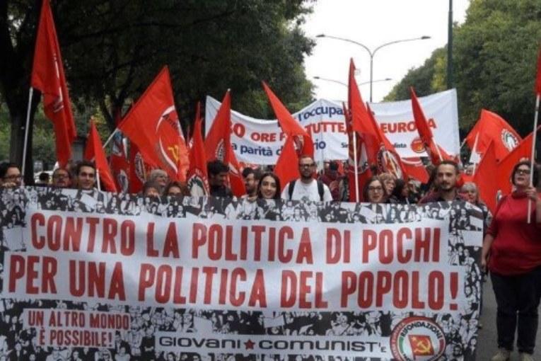 Giovani comunisti: domani tutti a Roma